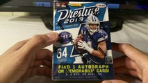 2018 Panini Prestige NFL Football Trading Cards. #1 draft pick hit. 1 autograph or memorabilia per box.