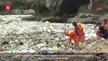 Waves of plastic, debris found in Caribbean sea off coast of Santo Domingo