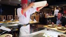 Ce chef japonais est dingue - restaurant Benihana à Londres !