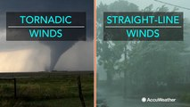 Difference between tornadic winds and straight-line winds