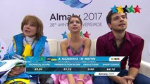 Figure Skating Ice Dance Pair Free Skating - 28th Winter Universiade 2017, Almaty, Kazakhstan