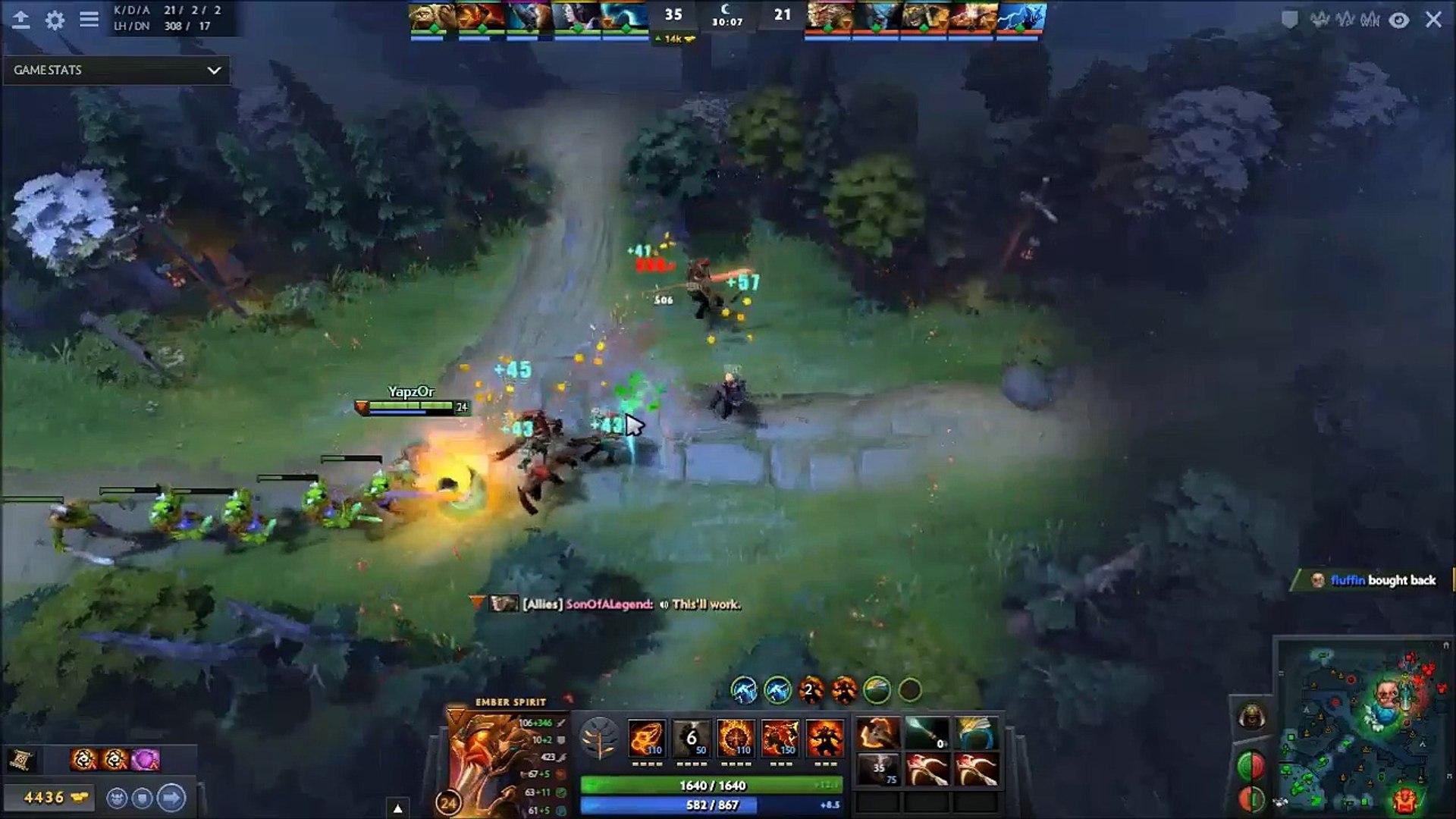 Secret Yapzor Pro Rampage Ember Spirit Old Ember Spirit Meta Strikes Again Best Plays Dota 2