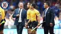 Ojitos Meza cuestionó arbitraje en la derrota ante Cruz Azul