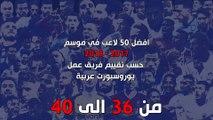 افضل 50 لاعب في موسم 2017 - 2018 حسب تقييم فريق عمل يوروسبورت عربية - اللاعبين من 36-40