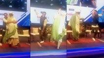 Ranveer Singh dance with Sadhguru Jaggi Vasudev in IIM Bangalore