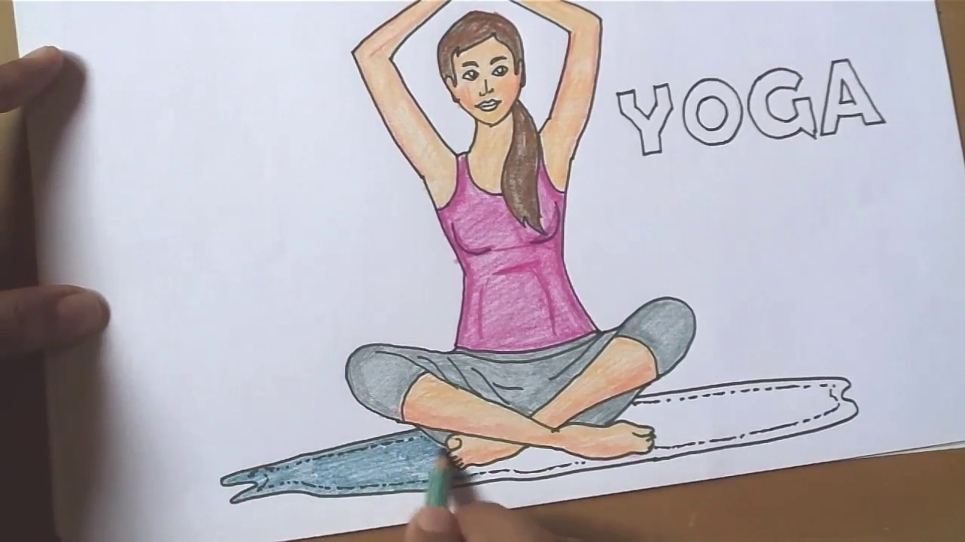 International Yoga Day 2018 How To Draw Yoga Video Dailymotion