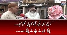 Karachi Main Thappay Lagnay Ka Pol Khul Gaya.. Panch Saal Kay Bachay Kay Panch Vote....