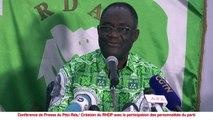 """Création du RHDP avec la participation des personnalités du parti:  Henri Konan Bédié - """"Que les militants ne se laissent pas abuser par les propos de Adjoumani, Amédé …"""""""