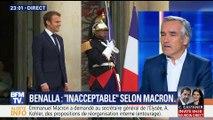 """Affaire Benalla: """"Inacceptable"""" selon Emmanuel Macron"""