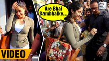 Janhvi Kapoor Mobbed By Fans While On Lunch With Sisters