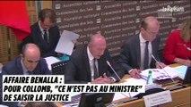 """Affaire Benalla : pour Collomb, """"ce n'est pas au ministre"""" de saisir la justice, mais l'Elysée et la préfecture de police"""
