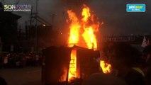 People's SONA protesters burn DuterTRAIN effigy