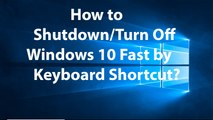 How to Log Out, Shutdown or Restart your Windows(7, 8,10