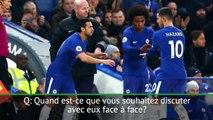 Transferts - Chelsea: Sarri fait le point sur les dossiers Willian, Hazard et Courtois