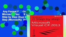 Any Format For Kindle  Microsoft Visual C# 2013 Step by Step (Step by Step (Microsoft))  Review