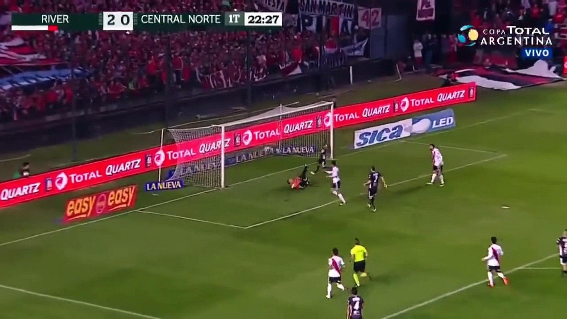 TODOS OS GOLS : River Plate 7 x 0 Central Norte - Copa Argentina 2018