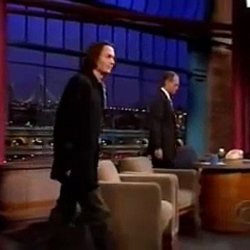 Johnny Depp Letterman Show 1999