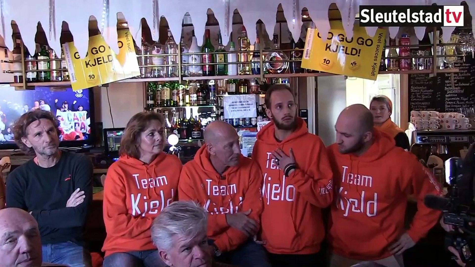 Goud voor Kjeld Nuis, groot feest in Zoeterwoude (13-02-2018)