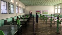 North Korea's national champions of table tennis