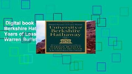 Digital book  University of Berkshire Hathaway: 30 Years of Lessons Learned from Warren Buffett