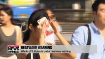 South Korea under a heatwave warning, demand for electricity record high