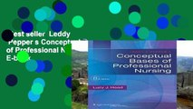 Best seller  Leddy   Pepper s Conceptual Bases of Professional Nursing  E-book