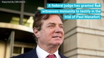 Five Manafort Case Witnesses Have Been Granted Immunity