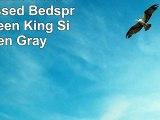 3 Piece JULES Ultrasonic Embossed Bedspread SetQueen King Size Queen Gray