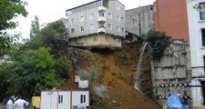 Son Dakika! İstanbul Beyoğlu'nda Toprak Kayması! 4 Katlı Bina Yıkılmak Üzere