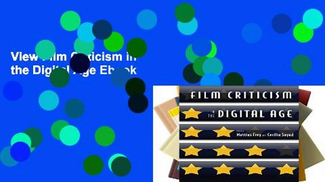View Film Criticism In The Digital Age Ebook Video Dailymotion