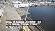 Suivez en accéléré la construction de la première éolienne flottante géante de France