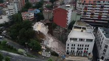 Beyoğlu'nda bina çöktü - Havadan görüntüler - İSTANBUL
