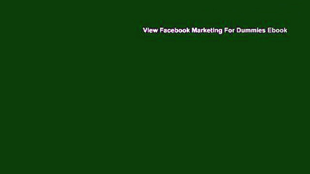 View Facebook Marketing For Dummies Ebook