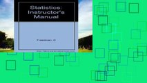 Get Full Statistics: Instructor s Manual For Ipad