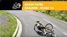 Adam Yates chute dans la descente du Col du Portillon / Yates crashes ! - Étape 16 / Stage 16 - Tour de France 2018