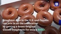 Get a Dozen Glazed Krispy Kreme Doughnuts for $1 on 7/27
