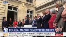 """""""Alexandre Benalla n'a jamais détenu le code nucléaire"""", plaisante Emmanuel Macron en démentant les rumeurs"""