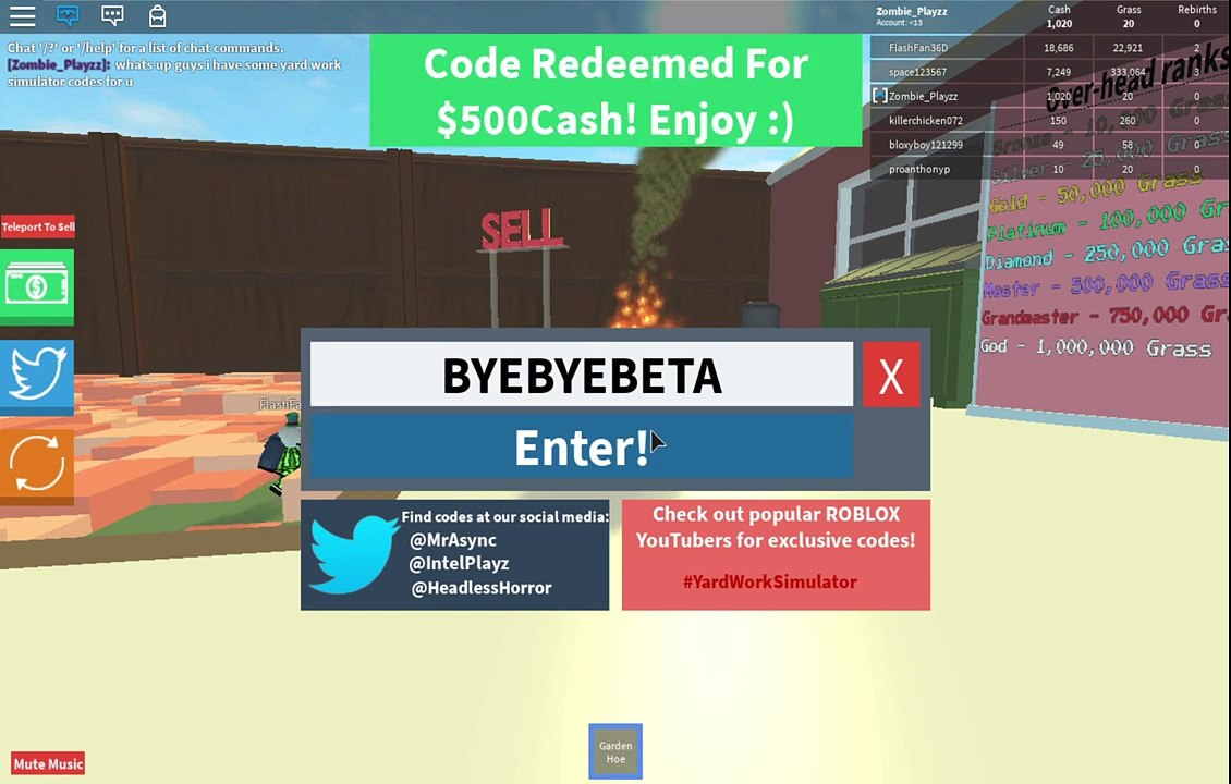 All Yard Work Simulator Codes Exclusive - codes for roblox bubble gum simulator 2018 how to get 40