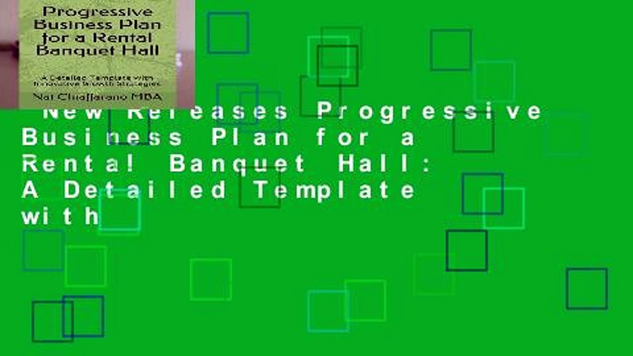New Releases Progressive Business Plan For A Rental Banquet