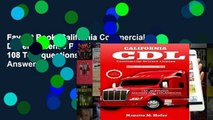 Favorit Book  California Commercial Drivers License Permit Test: 108 Test questions and Answers