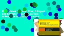 Open Ebook Common Core, Bilingual and English Language Learners: A Resource for Educators online