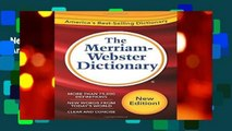 New Releases The Merriam-Webster Dictionary  Any Format