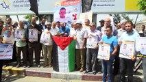 Açlık grevindeki Filistinli tutuklulara destek gösterisi - GAZZE