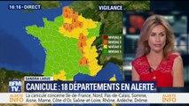 Canicule: 18 départements désormais placés en alerte orange