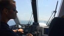 Opération en mer menée par l'unité littorale des affaires maritimes