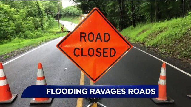 Heavy Rain Washes Out Roads in Pennsylvania