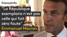 """Emmanuel Macron : """"La République exemplaire n'est pas celle qui fait zéro faute"""""""