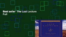 Best seller  The Last Lecture  Full