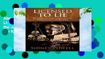 About For Books  Licensed to Lie: Exposing Corruption in the Department of Justice  For Kindle