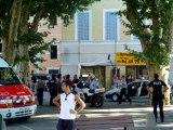 NOS AMIS LES FLICS : Coulisses du tournage  TRETS : La fin avec les pompiers  & la  police